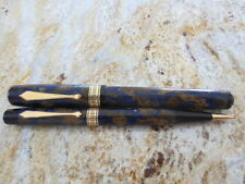 1929-1935 Waterman Patrician Fountain Pen & Pencil Set Turquoise