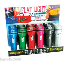 lot of 24 Flash Light Magnetic Flat Flashlights LED 1/4 inch thick