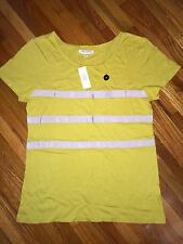 Banana Republic NWT Yellow Chartreuse Ribbon Bow T-shirt Top Tee Blouse Medium