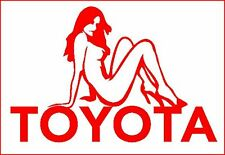 TOYOTA SEXY LADY OVER BADGE STICKER - quality vinyl graphic,decal