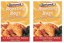 24 ROASTING BAGS MICROWAVE OVEN COOKING TURKEY MEAT FISH POULTRY CHICKEN