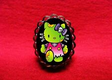 HELLO ZOMBIE KITTY RING ROCKABILLY PSYCHOBILLY GOTH
