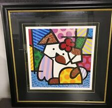 ROMERO BRITTO 'Valley Dog', 2001 SIGNED Limited Edition Silkscreen Print Framed