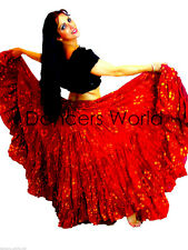 "25 yard cotton skirt 36"" rouge à pois tribal gypsy belly dance danse"