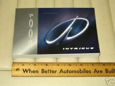 2001 OLDSMOBILE INTRIGUE Car Owner's Manual - French