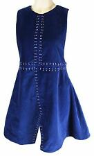 NEW NASTY GAL Sleeveless VELVET DRESS Sz Small Retro 70s 90s Style RenFaire NWT