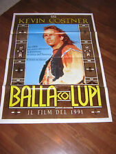 MANIFESTO,B1A ,1991,BALLA COI LUPI KEVIN COSTNER DANCES WITH WOLVES