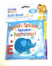 New Baby Bath Books Plastic Coated Child Bath Time Fun Educational Learning Toys
