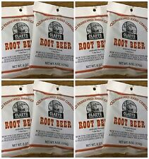 Claeys Root Beer Old Fashioned Hard Candy 8 PACK 6oz Bags FREE SHIPPING