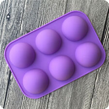 Home Use Silicone Half Ball Mould Chocolate Cake Muffin Baking Mold Bakeware WWS