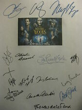 Into the Woods Signed Film Script X15 Meryl Streep Emily Blunt Anna Kendrick rp