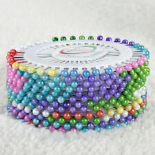 480Pcs Multicolor Round Head Dressmaking Pearl Sewing Straight Pins US