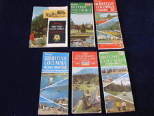 Vintage 1967-1974 British Columbia Canada Highway Road Map & Brochure Lot of 6