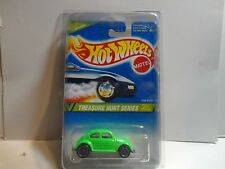 1995 Hot Wheels Treasure Hunt #357 Green VW Bug MOC