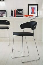 3x Calligaris tabourets de bar New york cs1087 Cuir tabouret rembourré de bar