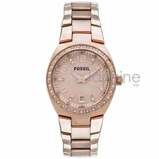 Fossil Authentic Watch Women's AM4508 Rose Gold 28mm Colleague Stainless Steel