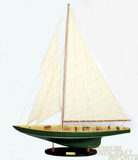"32"" Shamrock Sailboat Model Irish Green"