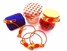 Geschenkschleife Zier Gummiband Rot mit Röschen auch als Haargummi geeignet 10St