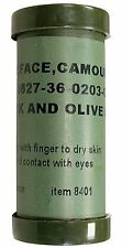 JUNGLE 2 Color US GI Face Paint Sticks BLACK & OLIVE MILSPEC Rothco 8401