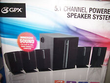 GPX 5.1 Surround Sound Multimedia Speakers, Subwoofer Home Theater Audio System