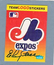 VINTAGE ELROY ROY FACE AUTO SIGNED MONTREAL EXPOS LOGO CARD RARE