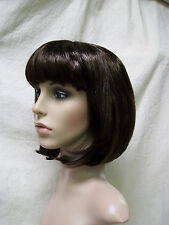 Brown Partyrama Bob Wig 20s Flapper Retro GoGo Girl Mod 70s Velma Dinkley Nerd
