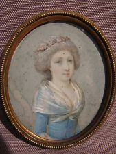 PORTRAIT MINIATURE EPOQUE XVIII EME SIECLE