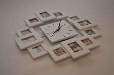 Multi-Photo Wall Clock - Boyfriend/Girlfriend Birthday 18 21 Wedding Christmas