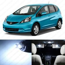 6 x Xenon White LED Lights Interior Package Deal For Honda Fit 2009 - 2013