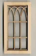 Window - Gothic Arch - 2117 wooden dollhouse miniature 1:12 scale USA made