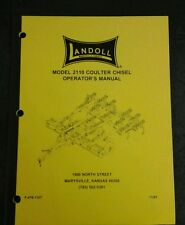 Landoll 2110 Coulter Chisel Operators Manual