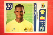PANINI CHAMPIONS LEAGUE 2011/12 N 26 ZAPATA VILLARREAL WITH BLACK BACK MINT!!