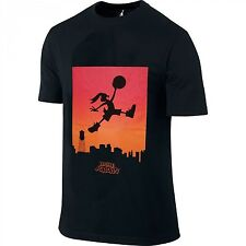 NIKE AIR JORDAN Black T-SHIRT HARE BUGS BUNNY Looney SKYLINE Extra Large XL NEW