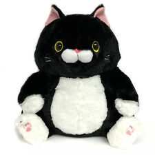 AMUSE Nyanko Deluxe Plush Cat Stuffed Animal (Black Cat - Sumitaro) 251635