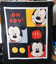 1 panel coton tissé Disney Mickey Mouse Oh Boy tissu