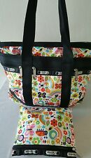 Never Been Used ! Travel Time LeSportsac travel tote /Matching Makeup Bag