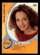 Linda ORF Autogrammkarte Original Signiert ## BC 39659