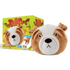 The Bulldog by Zeus Dog Toy barks, shakes and rolls unpredictably