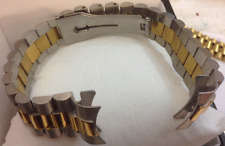 CAVADINI-MASSIVE EDELSTAHL-IN BI-COLOR UHREN ARMBAND 20 MM SCHMETT.SCHLIESSE NEU
