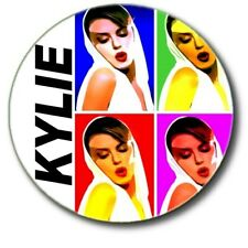 "KYLIE MINOGUE..1"" / 25 mm  RETRO 80'S POP BUTTON BADGE"