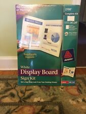 Avery White Display Board Sign Kit (2700) 36 x 24 (Laser Ink Jet) Unopened