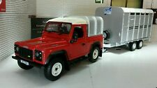 Land Rover Defender SWB TDi 90 Ifor Williams E Trailer 1:32 Britains Modello