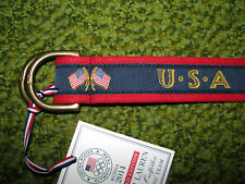 Mens $75.POLO-RALPH LAUREN Olympics Team 2014 Belt (L) USA/ SOCHI RUSSIA