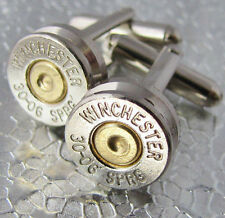 30-06 WINCHESTER Bullet Cufflinks Gold Silver Nickel Gun Deer Buck Rifle NEW