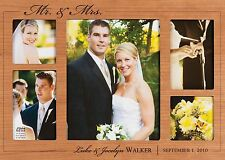 "Personalized Laser Engraved Mr. & Mrs. Cherry Photo Frame - 18"" x 12½"" Wedding"