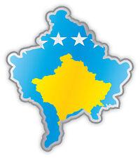 Kosovo mappa bandiera adesivo etichetta sticker 11cm x 13cm