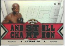 Anderson Silva 2013 Topps UFC Knockout Triple Threads Relics Card #TTRAS1 33/36