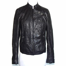 CONVERSE Buttery Soft Black Leather Motorcycle Moto Jacket Women's Small - S