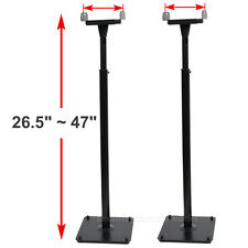 2 Surround Sound Bookshelf Floor Speaker Stands Side Clamp Heavy Duty Mount