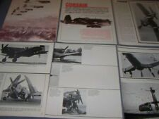 VINTAGE..VOUGHT F4U CORSAIR...STORY/HISTORY/PHOTOS..RARE! (719F)